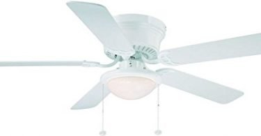Hampton Bay Hugger White Ceiling Fan With Light