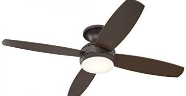 Casa Elite Oil-Rubbed Bronze LED Hugger Ceiling Fan