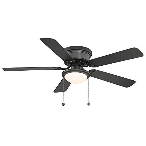 Hampton Bay Hugger Ceiling Fan - 52 in Black - Reversable Blades