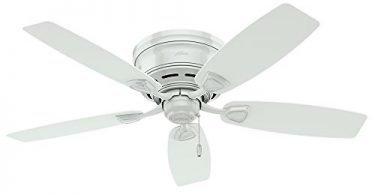 Hunter 53119 Sea Wind ETL Damp Listed White Ceiling Fan