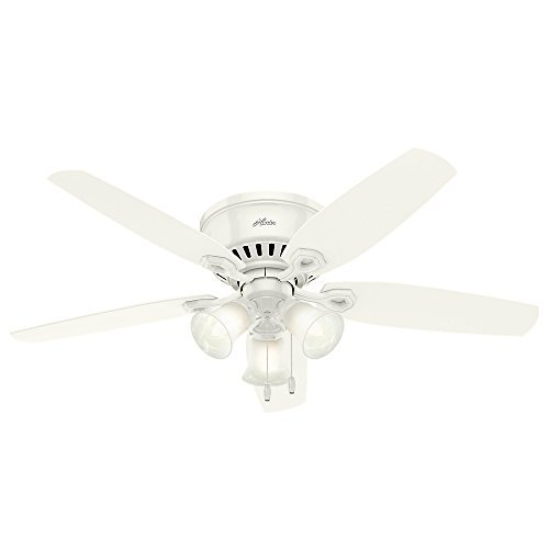 Hunter 53326 52-inch Builder Low Profile Ceiling Fan with Light