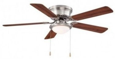 Hampton Bay Hugger 52 In Brushed Nickel Ceiling Fan