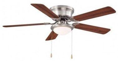 Hampton Bay Hugger 52 In Brushed Nickel Ceiling Fan