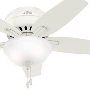 Hunter CC5C10C80 Low Profile Ceiling Fan-Clear Frosted Glass Light Kit