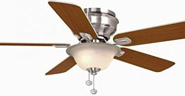 Hampton Bay Hawkins Brushed Nickel Ceiling Fan