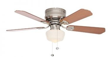 Hampton Bay Middleton Brushed Nickel Ceiling Fan