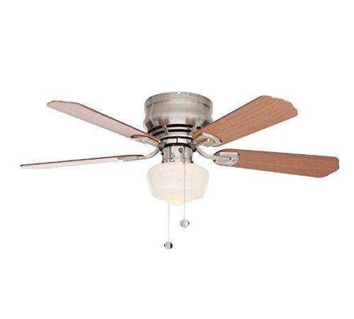 Hampton Bay Middleton Brushed Nickel Ceiling Fan