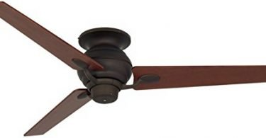 Casa Vieja Spyder Bronze Walnut Tapered Blades Hugger Ceiling Fan