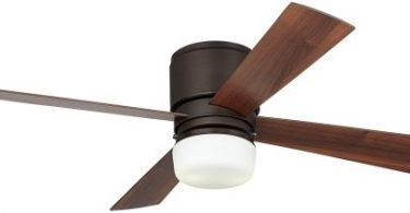 Casa Concourse Opal Glass - Bronze Hugger Ceiling Fan