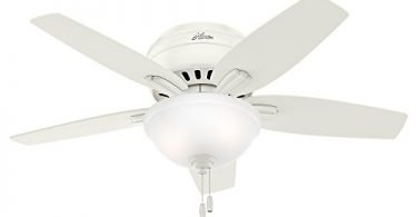 Hunter 51080 Newsome Ceiling Fan with Light 42-inch Small Fresh White