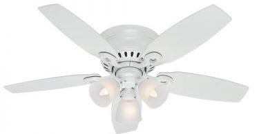 Hunter Fan Company 52087 Hatherton 46-Inch Snow White Ceiling Fan