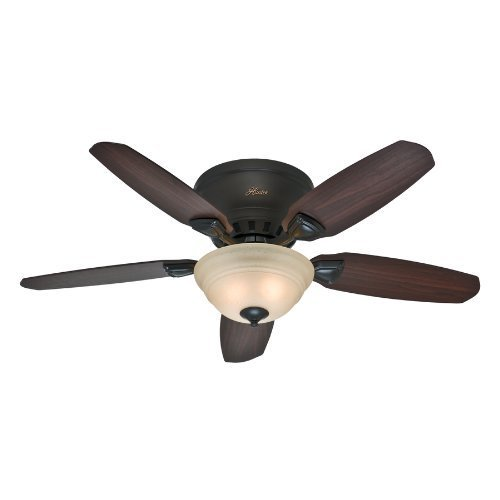 Hunter Louden 363707 Premier Bronze Flush Mount Indoor Ceiling Fan