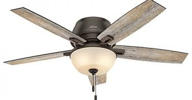 Hunter 53342 Casual Donegan Onyx Bengal Ceiling Fan with light