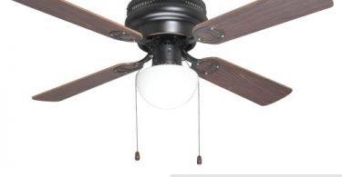 Oil Rubbed Bronze 42-Inch Hugger Low-Profile Flush Mount Ceiling Fan
