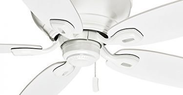 Casablanca 54 inch Ceiling Fan Snow White - Low Profile Design