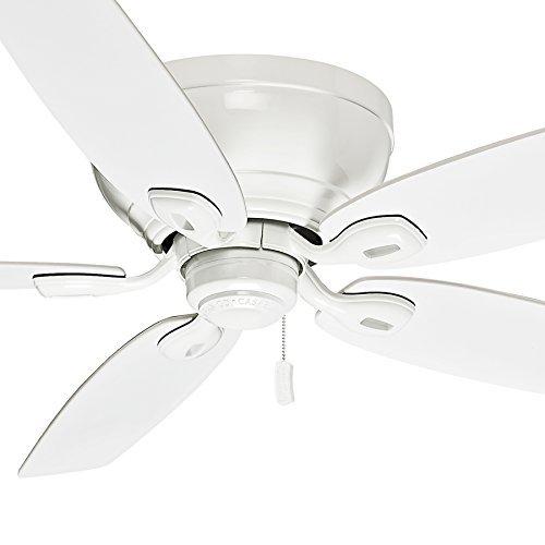 Casablanca 54 inch Ceiling Fan Snow White - Low Profile Design