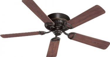 Quorum International 151525-95 Medallion Flush Mount Patio Ceiling Fan