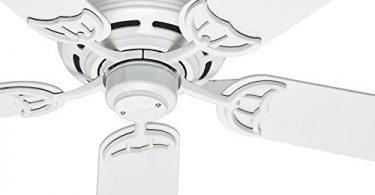 Hunter Fan 52-inch Low Profile Traditional Ceiling Fan in White