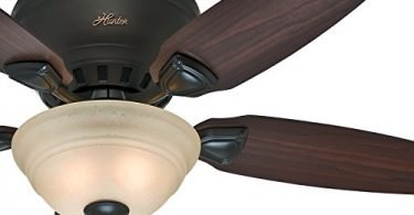 Hunter Low Profile Premier New Bronze Finish Ceiling Fan