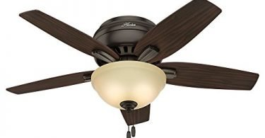 Hunter 51081 Newsome Ceiling Fan with Light 42-inch Premier Bronze