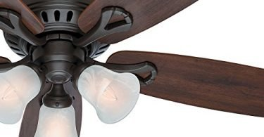 Hunter Fan 52-inch New Bronze Finish Flush Mount Ceiling Fan