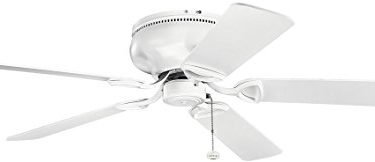 Kichler 339022MWH Stratmoor Matte White Flush Mount 52-in Ceiling Fan