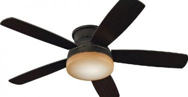 Monte Carlo 5TV52RBD Traverse Black Flush Mount Ceiling Fan