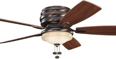 Kichler Lighting 300119OBB Windham 52IN Flush-Mount Ceiling Fan