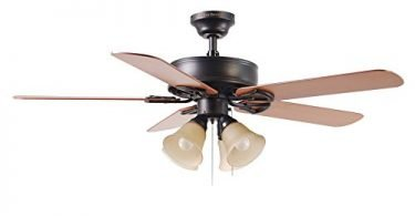 Harbor Breeze Springfield-II 52-in Antique Bronze Flush Mount Ceiling Fan