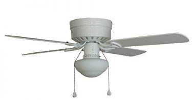 Harbor Breeze Armitage 42-in White Flush Mount Indoor Ceiling Fan