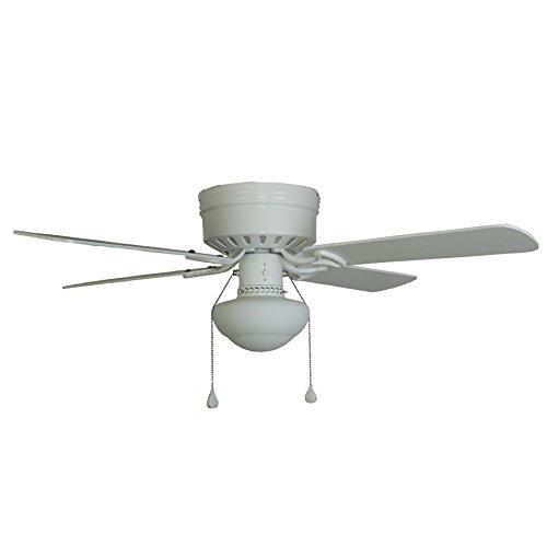 Harbor Breeze Armitage 42-in White Flush Mount Indoor Ceiling Fan