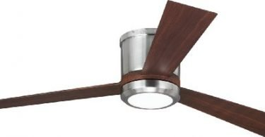 MonteCarlo 3CLYR52BSD Clarity Flush Mount Brushed Steel CeilingFan