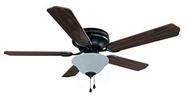 Hardware House 207089 Hugger Ceiling Fan Oil Rubbed Bronze finish