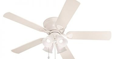 Harbor Breeze Centreville 52-in White Flush Mount Indoor Ceiling Fan