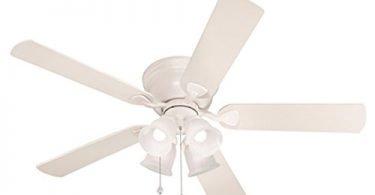 Harbor Breeze Centreville 52-in White Flush Mount Indoor Ceiling Fan