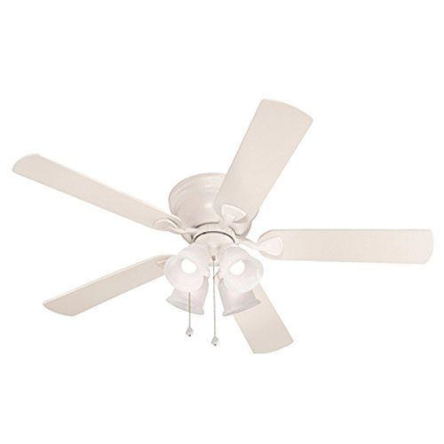 Breeze centreville 52 in white flush mount indoor ceiling fan harbor breeze centreville 52 in white flush mount indoor ceiling fan aloadofball Choice Image