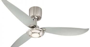 Possini Euro Design 56-inch Abstract Brushed Nickel Ceiling Fan