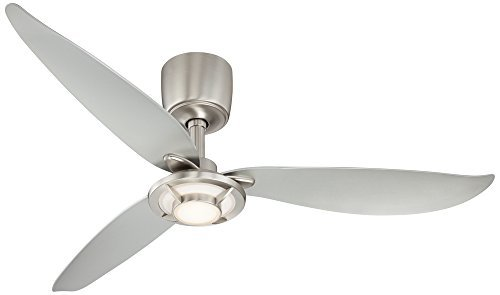 Possini Euro Design 56 Inch Abstract Brushed Nickel Ceiling Fan