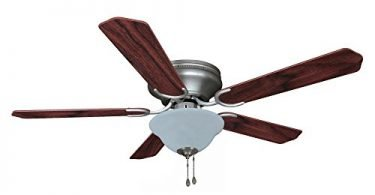 Hardware House 206907 Hugger Ceiling Fan Satin Nickel Finish