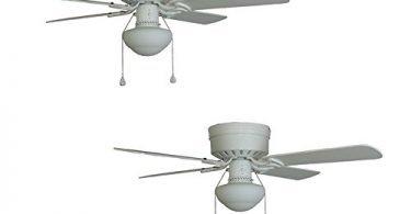 2 Harbor Breeze Armitage 42-in White Flush Mount Ceiling Fan