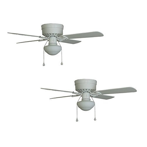 2 Harbor Breeze Armitage 42 In White Flush Mount Ceiling Fan