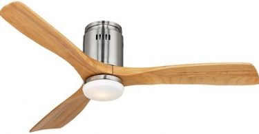 52-inch Possini Euro Design Admiralty Brushed Nickel Ceiling Fan