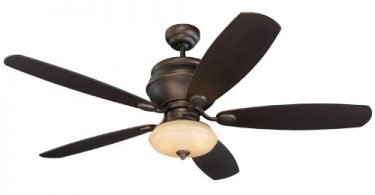 Monte Carlo 5WS52RBD-L Weatherstar 52-Inch flush mount Fan with Light