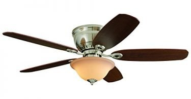 PAWTUCKET 52-in Brushed Nickel Flush Mount Indoor Ceiling Fan