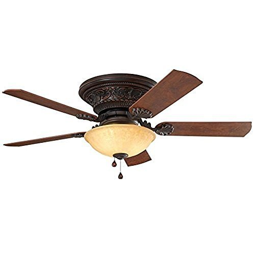 Lynstead 52-in Specialty Bronze Flush Mount Indoor Residential Ceiling Fan