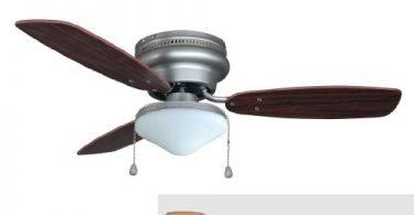 Hardware House 17-5975 Satin Nickel 42-In Flush Mount Ceiling Fan