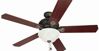 Harbor Breeze 52-in Oil-Rubbed Bronze Flush Mount Indoor Ceiling Fan
