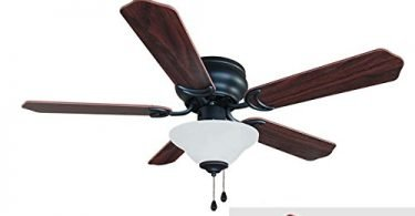 HardwareHouse 19-1227 Oil Rubbed Bronze 42-In Flush Mount CeilingFan