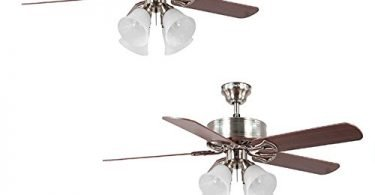 2 Harbor Breeze Springfield II Brushed-Nickel Flush Mount Ceiling Fan