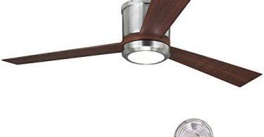 Monte Carlo 3CLYR52BSD Clarity Brushed Steel Flush Mount Ceiling Fan